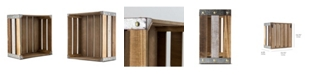 Crystal Art Gallery American Art Decor Rustic Wood Storage Crate - Small