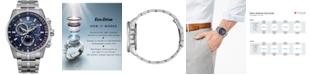 Citizen Eco-Drive Men's PCAT Stainless Steel Bracelet Watch 43mm