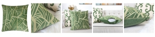 Homey Cozy Forest Embroidery Velvet Square Decorative Throw Pillow