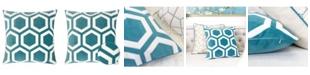 Homey Cozy Sadie Applique Velvet Square Decorative Throw Pillow