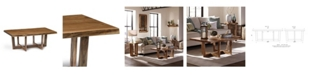 Alaterre Furniture Berkshire Natural Live Edge Wood Large Coffee Table