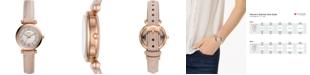 Fossil Women's Carlie Mini Blush Leather Strap Watch 28mm