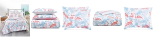 Martha Stewart Collection CLOSEOUT! Flamingo Lagoon 3-Pc. Full/Queen Comforter Set, Created for Macy's