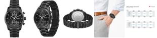 BOSS Men's Chronograph Skymaster Black Stainless Steel Mesh Bracelet Watch 44mm