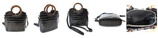 Imoshion Handbags Round Tort Handles and Removable/Adjustable Strap Crossbody Bag