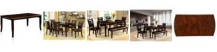 Furniture of America Rohrig Dark Wood Dining Table