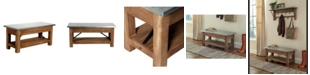Alaterre Furniture Millwork Wood and Zinc Metal Bench with Shelf