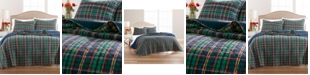Martha Stewart Collection Collegiate Plaid Flannel Full/Queen Quilt, Created for Macy's