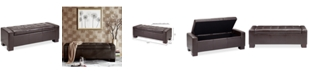 Furniture Clay Faux-Leather Storage Ottoman