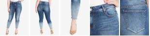 WILLIAM RAST Plus Size Distressed Skinny Jeans