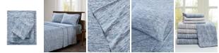 Urban Habitat Space Dyed King Cotton Jersey Knit Sheet Set