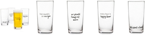 The Cellar CLOSEOUT! Words Pint Glasses, Set of 4, Created for Macy's