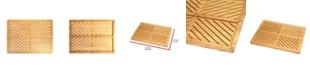 Oceanstar Bamboo Floor and Bath Mat with Non-Slip Rubber Feet
