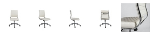 Euro Style Brooklyn Armless Low Back Office Chair