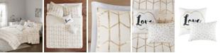 Intelligent Design Raina Full/Queen 5 Piece Metallic Printed Coverlet Set