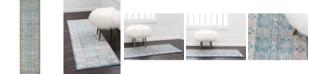 """Bridgeport Home Bellmere Bel1 Light Blue 2' 7"""" x 10' Runner Area Rug"""