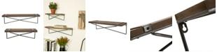 Glitzhome Farmhouse Metal and Wooden Wall Shelf