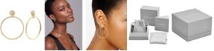 "Michael Kors 14k Gold-Plated Sterling Silver Mercer Medium Link Door Knocker Earrings 1.88"""