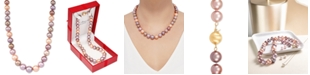 "Honora Multicolor Cultured Ming Pearl (9-13mm) Graduated 18"" Collar Necklace"