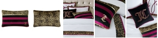 """Juicy Couture Velvet Safari Stripe 16"""" x 26"""" Throw Pillow"""