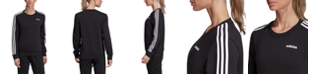 adidas Women's Essentials 3-Stripe Fleece Sweatshirt