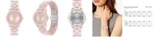 Movado Women's Swiss Bold Pink Ceramic Bracelet Watch 31mm