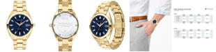 Movado Men's Swiss Heritage Gold Ion-Plated Stainless Steel Bracelet Watch 39mm