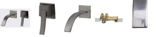 ALFI brand Brushed Nickel Single Lever Wallmount Bathroom Faucet