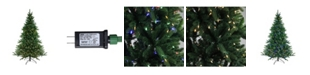 Northlight 6.5' Pre-Lit LED Instant-Connect Noble Fir Artificial Christmas Tree - Dual Lights