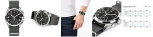Hamilton Men's Swiss Chronograph Khaki Pilot Pioneer Gray Nato Strap Watch 41mm