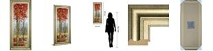"""Classy Art Crimson Woods I by Carmen Dolce Framed Print Wall Art, 18"""" x 42"""""""