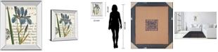 "Classy Art Iris Letter by Sue Schlabach Mirror Framed Print Wall Art, 22"" x 26"""