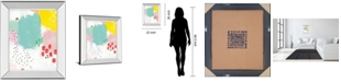 "Classy Art Dots and Colors-Mattie by Joelle Wehkamp Mirror Framed Print Wall Art, 22"" x 26"""