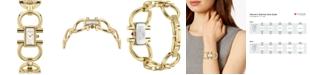 Ferragamo Women's Swiss Double Gancini Gold Ion-Plated Bracelet Watch 14x23mm