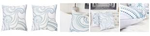 Homey Cozy Brianna Embroidery Square Decorative Throw Pillow