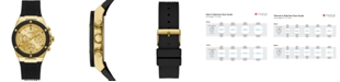 GUESS Unisex Black Silicone Strap Watch 39mm