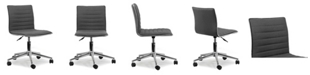 Glamour Home Aiko Fabric Swivel Office Chair with Wheel Base