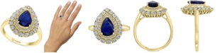 EFFY Collection EFFY® Sapphire (1-1/3 ct. t.w.) & Diamond (1/5 ct. t.w.) Ring in 14k Gold & White Gold