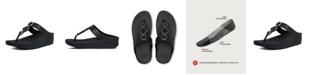 FitFlop Women's Leia Leather Toe-Thongs Sandal