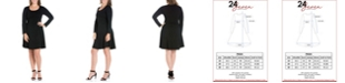 24seven Comfort Apparel Women's Plus Size Fit and Flare Skater Dress