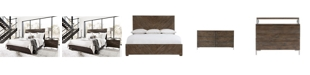 Furniture Logan Square Bedroom 3-Pc. Set (Queen Bed, Dresser & Nightstand) , By Bernhardt