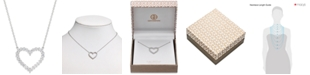 Giani Bernini Cubic Zirconia Heart Pendant Necklace in Sterling Silver, Created for Macy's