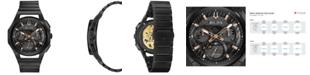 Bulova Men's Chronograph Curv Black Stainless Steel Bracelet Watch 44mm