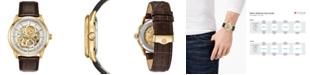 Bulova Men's Automatic Sutton Brown Leather Strap Watch 43mm