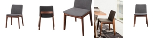 Moe's Home Collection Deco Dining Chair Gray-Set Of Two