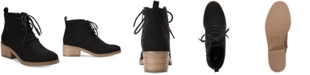 Style & Co Rizio Lace-Up Ankle Booties, Created for Macy's