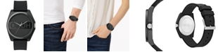 HUGO Unisex's #Play Black Rubber Strap Watch 40mm