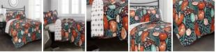 Lush Decor Poppy Garden 3-Pc Set Full/Queen Quilt Set