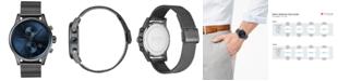 BOSS Men's Chronograph Jet Gray Stainless Steel Mesh Bracelet Watch 41mm