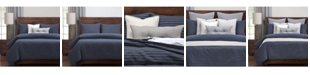 Siscovers Burlap Indigo Farmhouse 5 Piece Twin Luxury Duvet Set